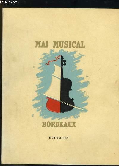 Mai Musical - Bordeaux, du 6 au 20 mai 1956. Septième Festival de Musique.