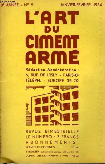 L'Art du Ciment Armé N°5 - 3ème année : Le Silo, nouvelles et intéressantes Réalisations - Le Ciment Armé au service du Sport ...