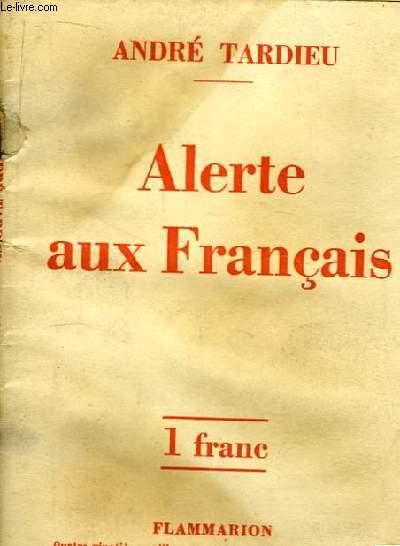 Alertes aux Français.