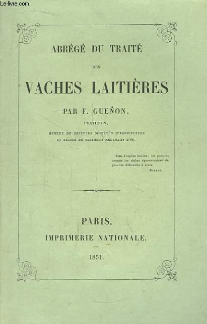 Abrégé du Traité des Vaches Laitières.