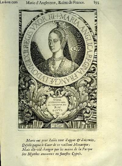 Une Biographie,  XVIIIe siècle, de Marie d'Angleterre, Reine de France.