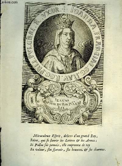 Une Biographie,  XVIIIe si�cle, de Jeanne, Reine de France, Femme de Philippe Le Bel.