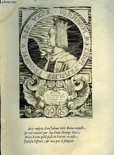 Une Biographie,  XVIIIe siècle, de Jeanne, Reine de France, Femme de Philippe Le Long.