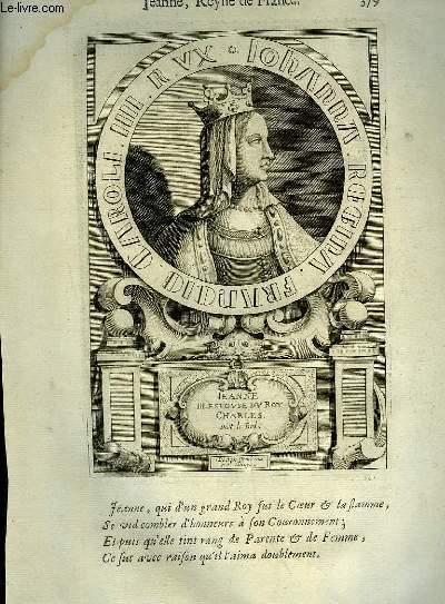 Une Biographie,  XVIIIe siècle, de Jeanne, Reine de France, Femme de Charles Le Bel.
