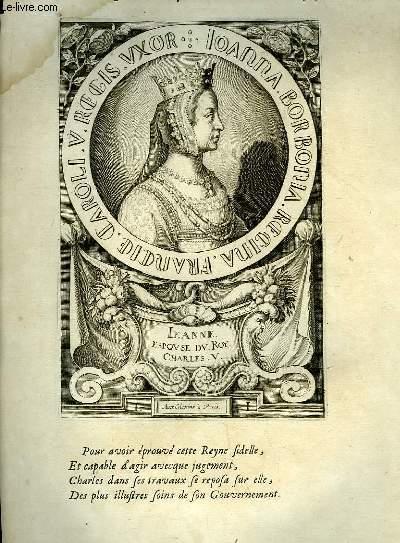 Une Biographie,  XVIIIe si�cle, de Jeanne, Reine de France, Femme de Charles V