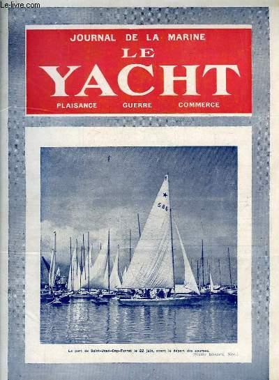 Journal de la Marine, Le Yacht. N°3058 - 70e année : Le port de Saint-Jean-Cap-Ferrat - La Génèse du Sous-Marin, par Bernay - Cormorans et Mouettes, par Mouly - Les restrictions du Caneton - Yachting à Jersey, par Buret ...