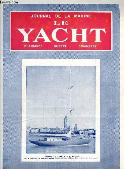 Journal de la Marine, Le Yacht. N°3059 - 70e année : Wyvern II - Une entreprise malheureuse, par Thomazi - Généraux et poissons rouges, par Mouly - Entraves au commerce maritime, par Desclaire -