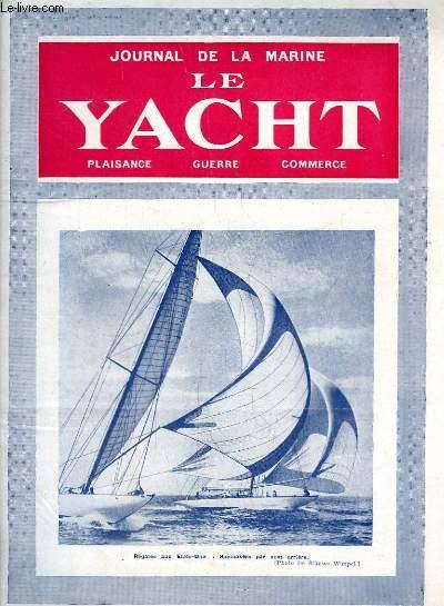 Journal de la Marine, Le Yacht. N°3062 - 70e année : Régate aux Etats-Unis : Spinnakers par vent arrière - Degel, par Mouly - Le trafic de Suez, par La Roërie - Souvenirs par Charcot, par Ferrière - Yachting en Indochine, par Laffay ...