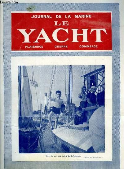 Journal de la Marine, Le Yacht. N°3077 - 70e année : Dans le port des yachts de Ouistreham - Marine Secours, par Mouly - Pour la suppression de la taxe sur les passagers, par Desclaire ...