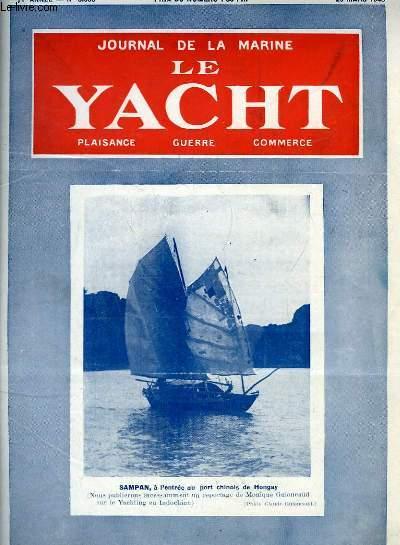 Journal de la Marine, Le Yacht. N°3093 - 71e année : Sampan, à l'entrée du port chinois de Hongay - Marines du temps de paix, par le Cdt A. Thomazi - La justice et la tortue, par Mouly - Les lancements de navires de commerce en 1947, par Desclaire ...