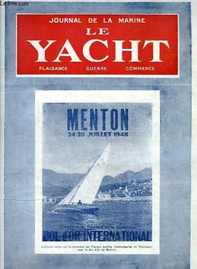 Journal de la Marine, Le Yacht. N°3108 - 71e année : Affiche éditée pour le Bol d'Or de Menton - Le colis douteux, par Mouly - Roof Surélevé - Les Eliminatoires préolympiques à Meulan, par Lavalette ...
