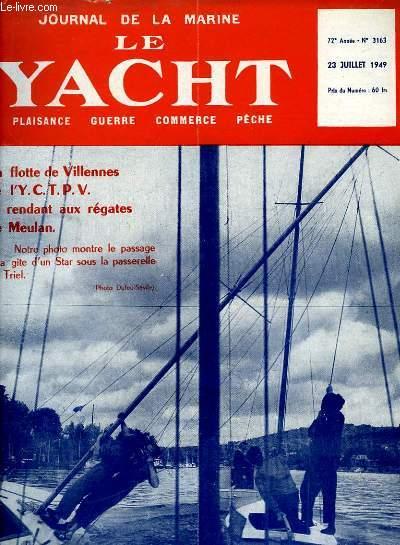 Journal de la Marine, Le Yacht. N°3163 - 72e année : La flotte de Villennes de l'Y.C.T.P.V. se rendant aux régates de Meulan -