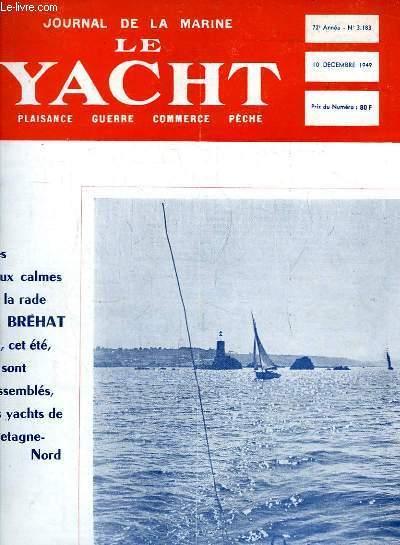 Journal de la Marine, Le Yacht. N°3183 - 72e année : Les eaux calmes de la rade de Bréhat - En course à bord du