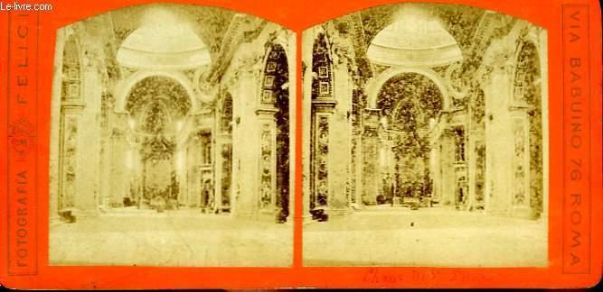 1 planche composée de 2 photographies (identiques) anciennes albuminées, du Choeur de Saint-Pierre