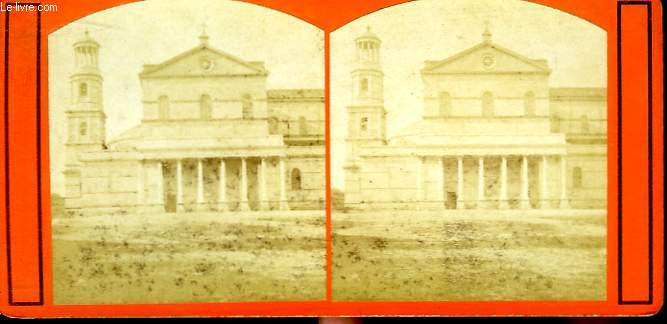 1 planche composée de 2 photographies (identiques) anciennes albuminées, de San Paolo