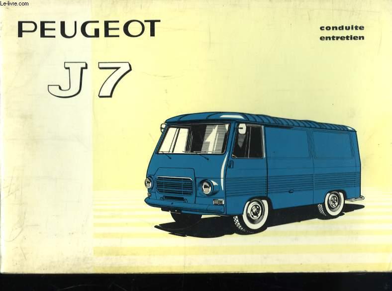 Notice de Coduinte et d'Entretien du Peugeot J7