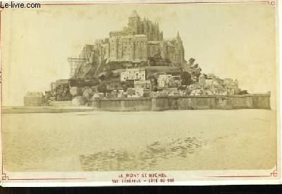 Une photographie ancienne albuminée du Mont-Saint-Michel. Vue générale - Coté du Sud