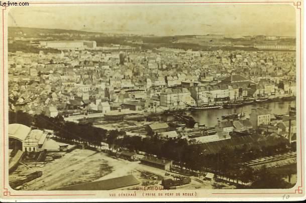 Une photographie ancienne albuminée de Cherbourg, Vue générale prise du Fort du Roule)