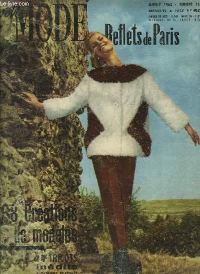 Votre Mode. Reflets de Paris. N°754 : 68 créations de modèles.