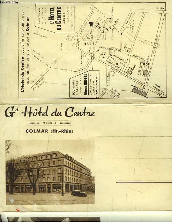Carte Postale Ancienne Publicitaire du Grand Hôtel du Centre, Colmar (Haut-Rhin)