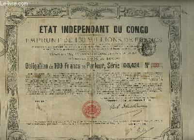 Obligation de 100 Francs au Porteur, Série 08024 N°09