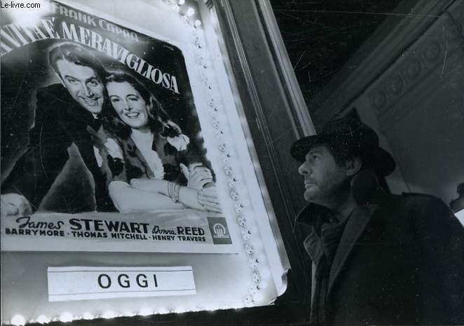1 photographie professionnelle tirée d'un film avec Marcello Mastroianni.