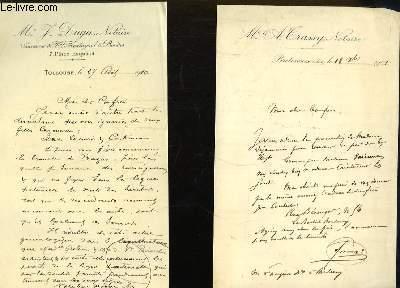 Lot de Lettres Anciennes Manuscrites (Renseignements Généalogiques)