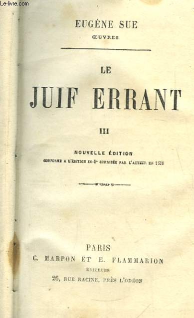 Le Juif Errant. TOME III