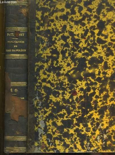 Explication du Code Napoléon, contenant l'Analyse critique des auteurs et de la jurisprudence. TOME VII : Commentaire-Traité des Sociétés Civiles et Commerciales.