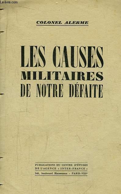 Les Causes Militaires de notre Défaite