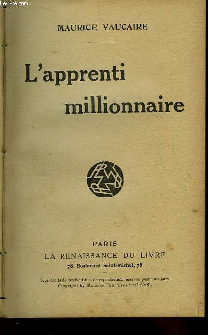 L'apprenti millionnaire.