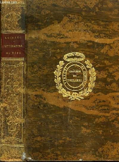 Histoire Elémentaire et Critique de la Littérature. Littératures du Midi (Italie, Espagne et Portugal)