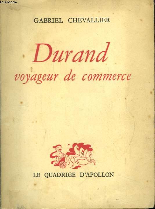 Durand, voyageur de commerce