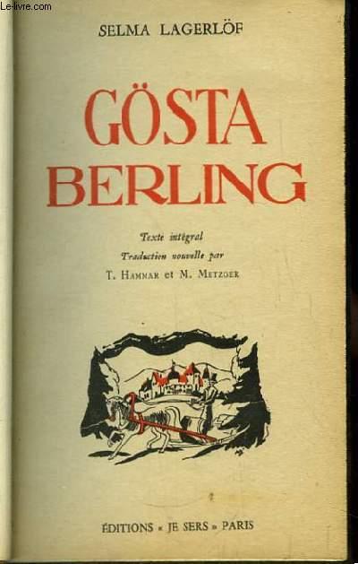 Gösta Berling.