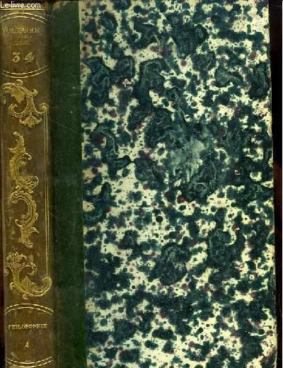 Oeuvres complètes de Voltaire. TOME 34 : Philosophie, 4e partie