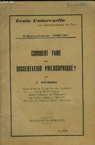 Comment faire une dissertation philosophique ?