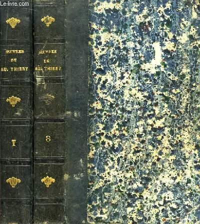 Oeuvres de Augustin Thierry. TOMES 7 et 8 : Récits des Temps Mérovingiens, précédés de Considérations sur l'Histoire de France. En 2 VOLUMES