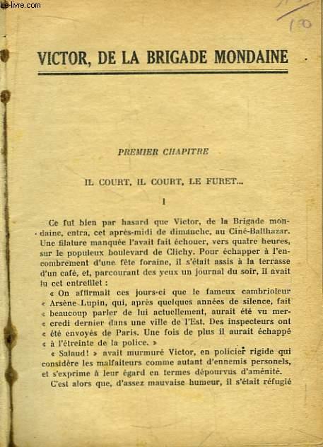 Victor La Brigade Mondaine
