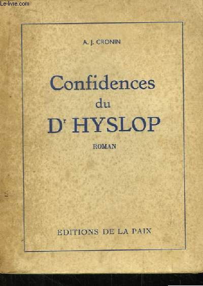 Confidences du d'Hyslop.