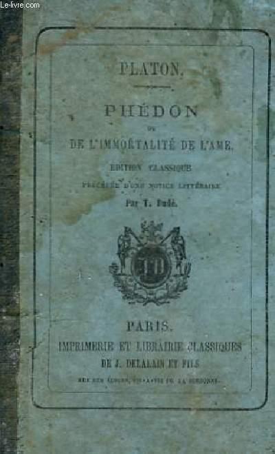 Phédon ou L'Immortalité de l'Ame.