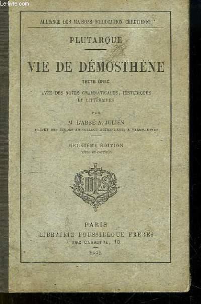 Vie de Démosthène.