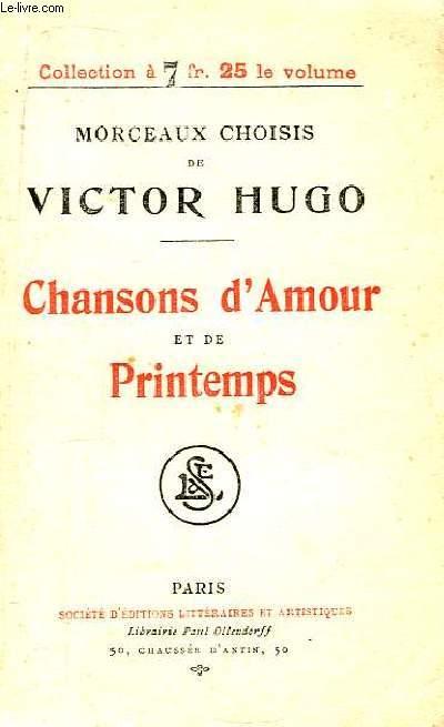 Chansons d'Amour et de Printemps.