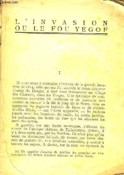L'Invasion ou le Fou Yegof.