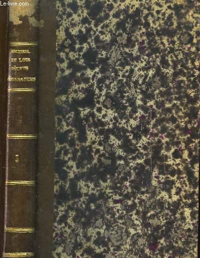 Recueil, par ordre chronologique de Lois, Décrets, Ordonnances, Règlements, Circulaires concernant le service des ponts et chaussées. TOME 5