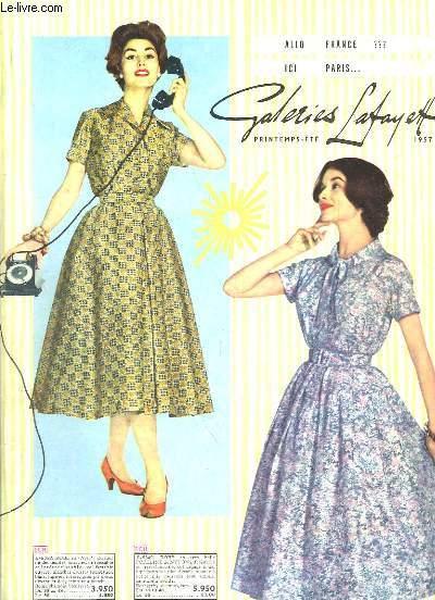 Catalogue des Galeries-Lafayette. Printemps - Eté 1957
