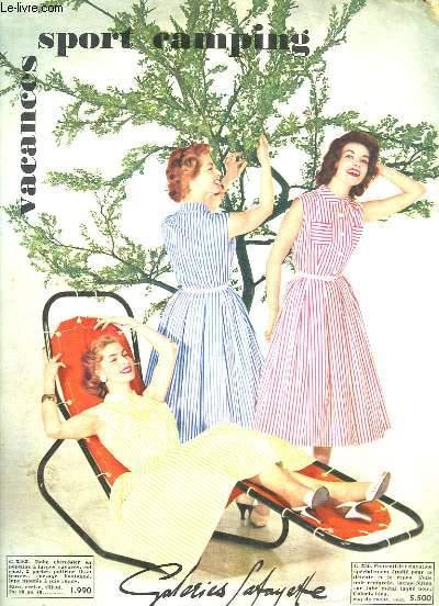 Catalogue des Galeries-Lafayette. Vacances - Sport - Camping. 1956