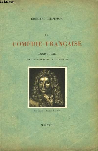 La Comédie-Française Année 1935