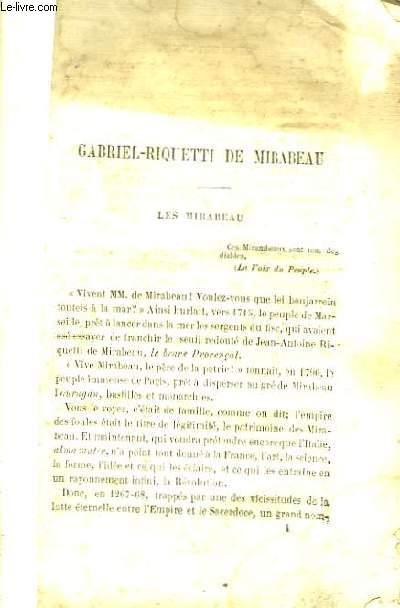 Lettres d'Amour de Mirabeau.