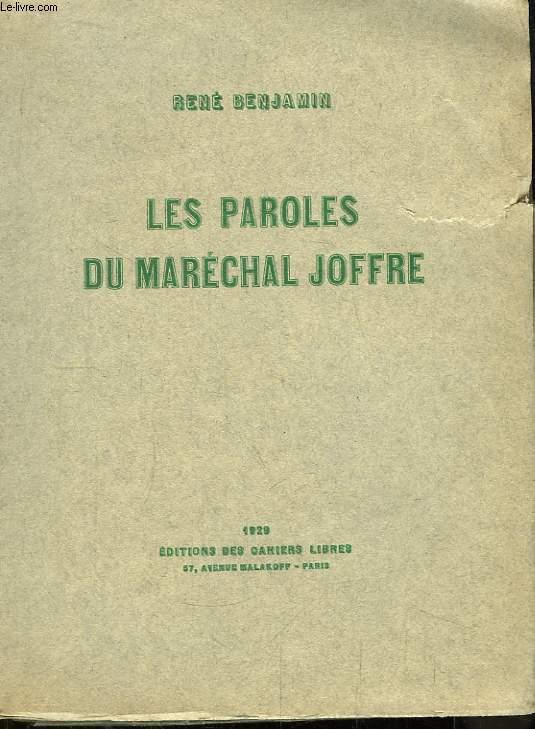 Les Paroles du Maréchal Joffre