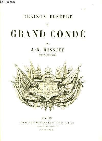 Oraison Funèbre du Grand Condé.